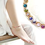 ❤Lovely Gift for Her❤ Kerr's Choice Rainbow Series Swarovski Jewelry Gold Bracelet and Gold Anklet