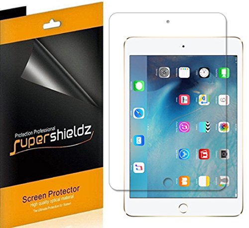 Supershieldz [3-Pack] for Apple iPad Mini 4 Screen Protector, High Definition Clear Shield + Lifetime Replacement