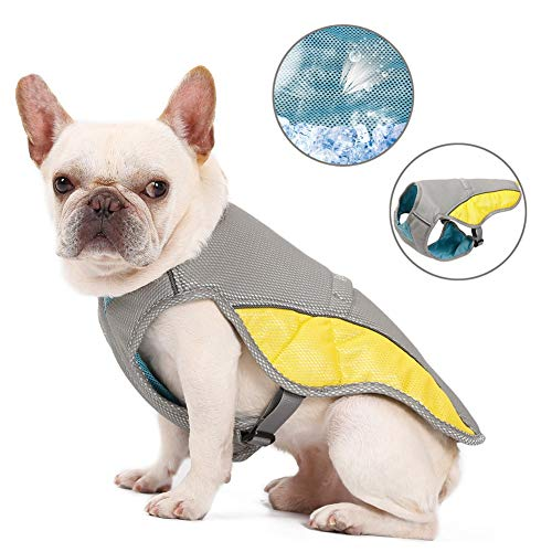 Cooling Vest Harness for Dogs - Evaporative Dog Jacket Safety Reflective Vest for Small Medium Large Dogs, Pet Cooling Coat for Walking Outdoor Hunting Training Camping (Best Cooling Jacket For Dogs)