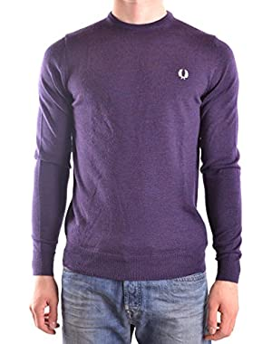 Men's MCBI128178O Purple Wool Sweater