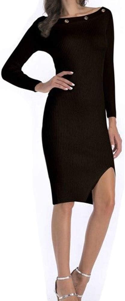 ZSRHH-Falda Vestido de Mujer deducción Delgada Hitz Cuello de ...