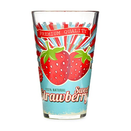 Fruit Juice Glass Printing Cup ,Glass Of Cold Water Strawberry