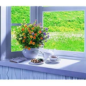 LUCKY SNAIL Artificial Fake Flowers, Faux Outdoor UV Resistant Boxwood Shrubs Plants, Lifelike Plastic Silk Flowers for Indoor Outdoors Home Office Garden Wedding Sidewalk Trim Decor 5