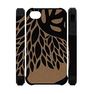 Generic Tree of Life Design Custom Dual-Protective 3D Polymer four Color Black Red DoderBlue Coral Case Cover for iPhone4 iPhone4S