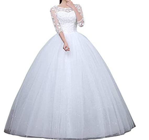 Buy Gownlink Beautiful Full Stitched Christian Wedding Ball Gown Wedding Dress In White Color For Women Gz521 6 Xxxxx Large At Amazon In