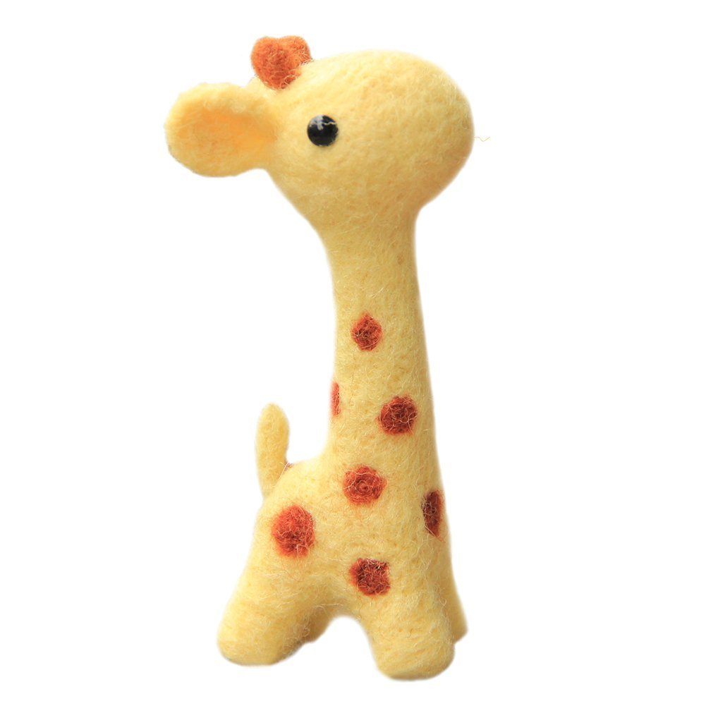 WellieSTR DIY Needlecraft Needle Felting Character Kits Yellow Cute Deer