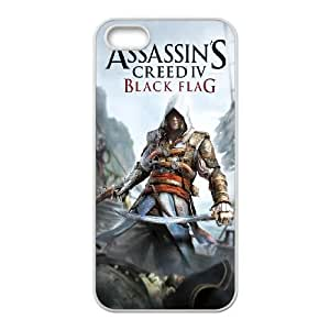 Assassins Creed Black Flag iPhone 5 5s Cell Phone Case White Y1047986