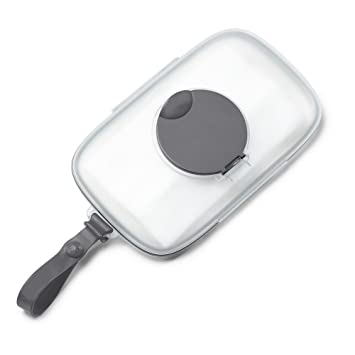 Grey On The Go Snug Seal Baby Wipes Case
