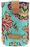 Oilily Summer Flowers Smartphone Pull Case Aqua