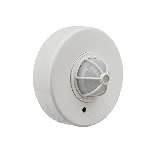 KHEBANG Detector infrarrojo Sensor Movimiento para dentro y fuera con 360° ángulo de detección,