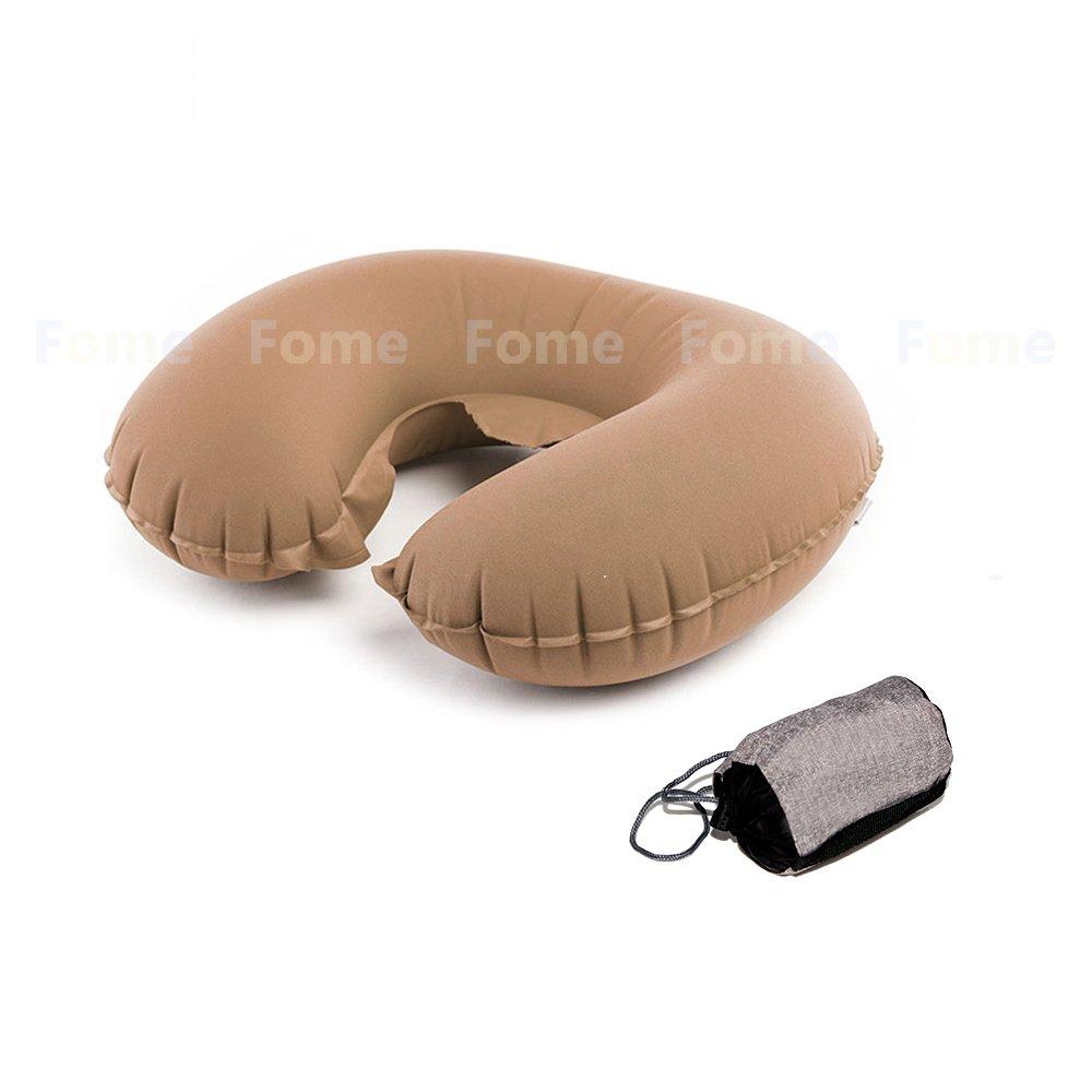 インフレータブル枕、Fome sports|outdoors ultra-comfortableインフレータブル枕ポータブルのU型枕サポートネックBack Sleepingの枕旅行キャンプMidday Rest 1年保証 B01JZ1FABS