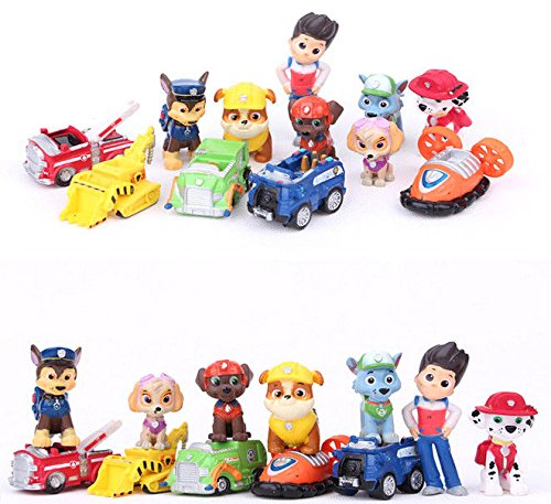 [New 12 IN 1 PAW Patrol dog Kids Mini Figures Toy Play Set Gift Ryder and 6 Dogs] (Make Monkey Magic Costume)