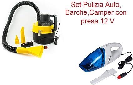 xon Top Shop - Set de Limpieza para Coche, Mini Aspirador y Aspirador, 4,5 L, 12 V, Toma para Encendedor de Cigarrillos, Caravana, Barco: Amazon.es: Coche y moto