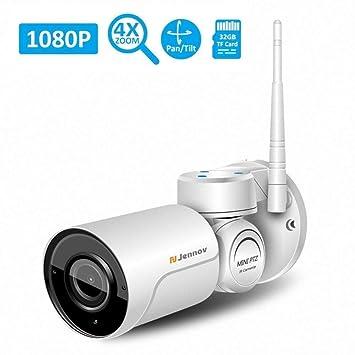 KENNOVA Cámaras de Vigilancia WiFi de Seguridad IP Inalámbrica HD 1080P PTZ con Lente 4X Zoom