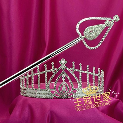 Pageant Prize Tiara - Quantity 1x Like_Miss_Hong_Kong_ pageant Crown Tiara Party Wedding Headband Women Bridal Princess Birthday Girl Gift _prize_income_ comb ination_package_ Bridal Wedding Crown Tiara Party Wedding Headb