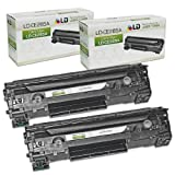 LD © HP Remanufactured CE285A (85A) Set of 2 Black Laser Toner Cartridges for the P1102w/M1212nf Printers, Office Central
