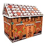Sandy Christmas Cottage-Style House Folding Storage Cubes with Lid, organizing Kids Toys, Books and Clothes(Pack of 2)