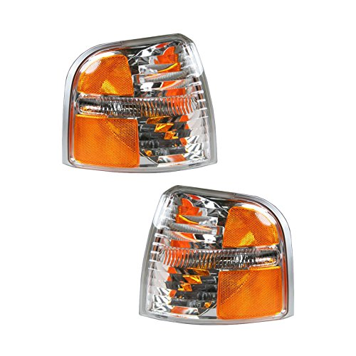 Side Marker Corner Parking Lights Turn Signals Pair Set for 02-05 Explorer