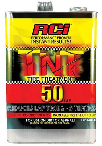 NEW RCI TNT UNDETECTABLE TIRE SOFTENER, RACING TIRE TREATMENT FOR USE UP TO 50 LAPS, 1 GALLON, REDUCES LAP TIMES 2-5 TENTH, FOR USE ON DIRT & ASPHALT, INCREASES TRACTION & TIRE LIFE UP TO 50%