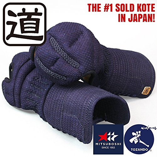 Gloves Kote (Tozando Deluxe 6mm Machine-stitched Orizashi Kote 'MICHI' (Large))