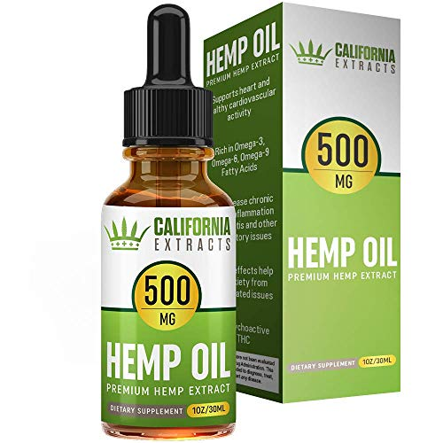 Hemp Oil for Pain Relief - Stress Relief, Anti Anxiety, Sleep Supplements - Herbal Drops - Rich in MCT Fatty Acids - Natural Organic Hemp Seed Full Spectrum Extract (30ML- 250MG)