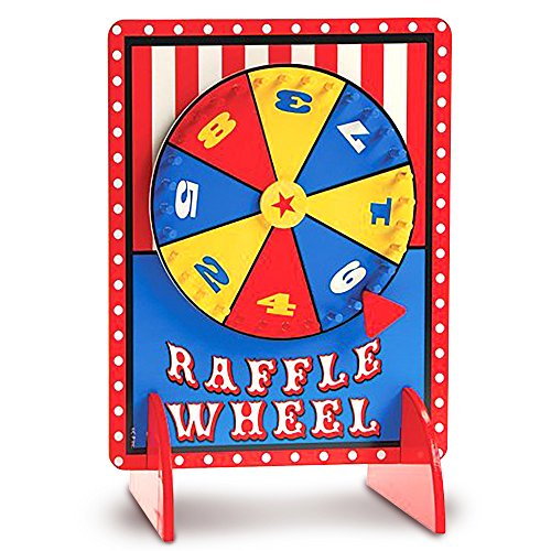 Gamie Tabletop Spinning Raffle Wheel with Stand Premium Quality Wood Spinning Carnival Wheel | Tabletop Prize Spinner Wheels for Boys and Girls, Kids' Parties, Classroom & - Art Spin Spinner
