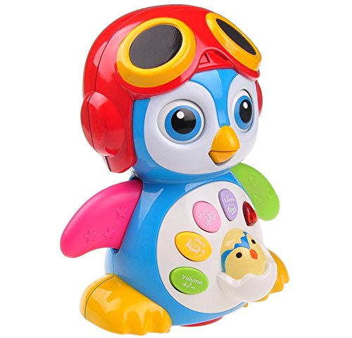 Musical Dancing Penguin Toy For Boys and Girls Kids or Toddlers TG655 – Features different Modes, lights, Sounds – Fun Storytelling Toy By ThinkGizmos (Trademark (Penguin Gift Box)