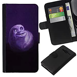 All Phone Most Case / Oferta Especial Cáscara Funda de cuero Monedero Cubierta de proteccion Caso / Wallet Case for Samsung Galaxy Core Prime // Ghost Cute Monster White Flying Cartoon Drawing