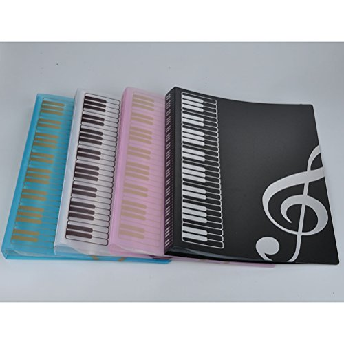Music Sheet File Paper Documents Storage Folder 40 Pockets Holder (White) by VORCOOL (Image #1)