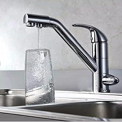 LHbox Grifo Lavabo El Cobre-Agua hasta el dispensador de Agua purificador de Agua del