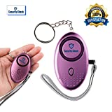 SECURITY CHECK Personal 140DB Alarm Keychain Premium Quality Emergency Device w/ LED light & Batteries included Guaranteed for Safety&Self Defense Protection for Women,Men,Girls,Kids,Students (PURPLE)