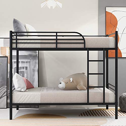 GENPO Twin Over Twin Metal Bunk Bed