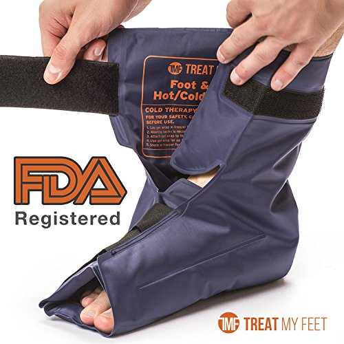 Foot & Ankle Pain Relief Hot/Cold Gel Wrap - Effectively relieve foot and ankle aches & PAINS using compression gel wrap - Heated or Cooled, Targets All Areas - FDA Registered & Doctor Recommended (Relief Wrap)