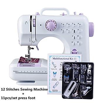 Mini Nähmaschine 12 Nähprogrammen mit LED-Nählicht Haushaltsgeräte Stichprogramm