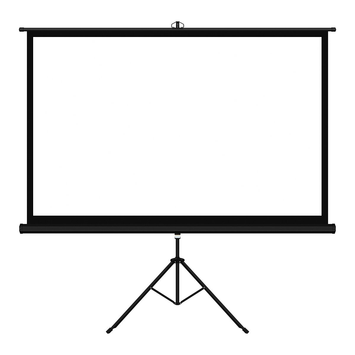 100 Inch 16:9 Movie Screen FastFox Outdoor Portable Home Cinema Projector Screens with Tripod Stand PVC Fabric Matte White