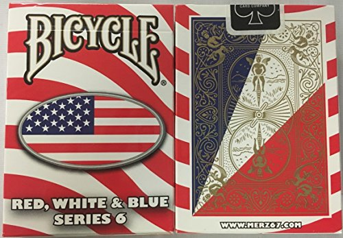 (Bicycle Red, White and Blue Series 6 Oval Design Playing Cards)