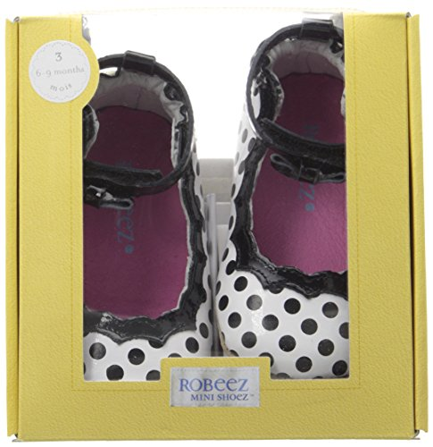 Charlotte White Sole Mini Hard Robeez Infant Shoe Black 8q0dc