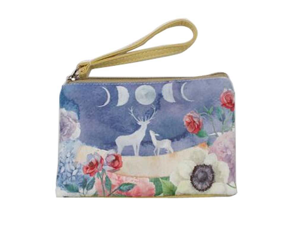 Patrón de dibujos animados bolso de móvil bolso de embrague bolso simple portátil, alce: Amazon.es: Oficina y papelería