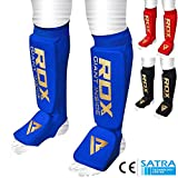 RDX Shin Guard MMA Instep Foam Pad Support Boxing Leg Guards Foot Protective Gear Kickboxing (CE Certified Approved by SATRA)