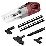 SOWTECH Cyclonic 0.5L 80W Motor Car Lightweight Cordless Handheld Vacuum Lithium Ion Translucent Dirt Bowl Cleaner Rechargeable Dustbuster with 4.0Kpa Powerful Suction 30 Mins Running Fade Area Red