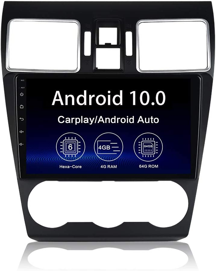 """Dasaita 9"""" Android 10.0 Car Radio for Subaru Forester WRX 2016 2017 2018 Bluetooth 5.0 Stereo Audio GPS Navigation Head Unit Multimedia Music Video Player 4G 64G PX6 DSP Android Auto Wireless Carplay"""