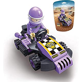 Toy Cars,EDUKiE Pull Back Cars Building Kit Mini Assorted Construction Vehicles & Race Car Toy Gift for Boys & Girls Age 5+,New 2020 Purple(43 Pieces)