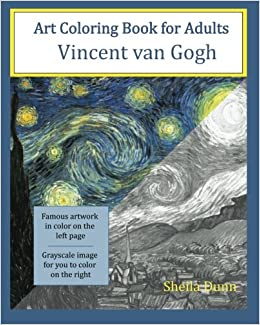 Art Coloring Book for Adults: Vincent van Gogh: Sheila Dunn ...
