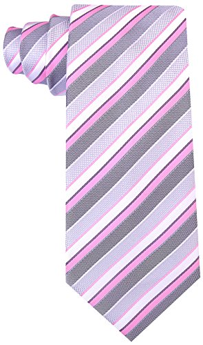 Striped Ties for Men - Woven Necktie - Pink by Scott Allan Collection (Image #2)