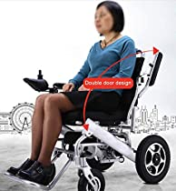 2019 New Majestic Motorized Electric Wheelchair for Adults – Lightweight Foldable Power Wheelchair with Joystick – Aviation Travel Safe – Long-Range Remote Control – Intelligent Electromagnetic Break