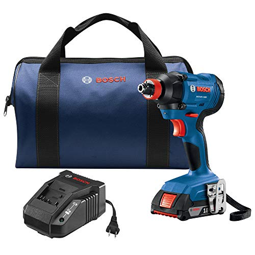 Bosch GDX18V-1600B12-RT 18V 1/4 In. and 1/2 In. Two-In-One Socket-Ready Impact Driver Kit (Renewed)