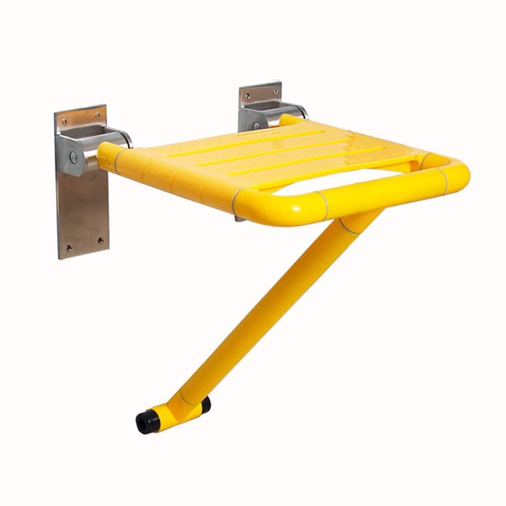 シャワーチェア 高齢者&障害者のための折りたたみ式折り畳み式シャワーツール、ハンディキャップ用のポータブルシャワーチェアベンチバスシート (色 : イエロー いえろ゜) B07J242MNV イエロー いえろ゜ イエロー いえろ゜
