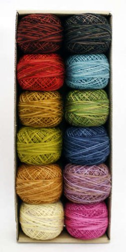 (Valdani Perle Cotton Embroidery Thread Size 12 Scent of Flowers Collection)