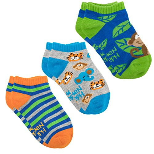 Stephen Joseph Mix and Match Ankle Socks, Zoo, - Joseph Stephen Zoo