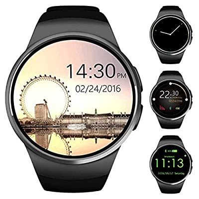 ZAOYI Bluetooth Smartwatch, Touch Screen Support SIM Card TF Card with Heart Rate Monitor Fitness Activity Tracker, Compatible with iOS and Android Phone